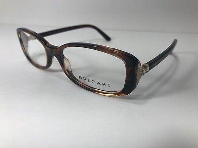 BVLGARI 4060-B 5218 Women Eyeglass Frame Tortoise Designer Glasses Bulgari Rx