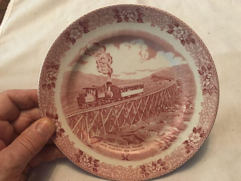 Mt. Washington COG Railway Vintage Souvenir Plate, White Mountains New Hampshire