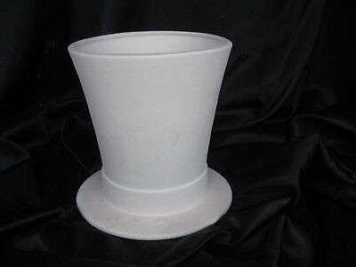 """04 Ceramic Bisque  Small Top Hat 5""""t 5""""w  You Paint  Glaze Inside"""
