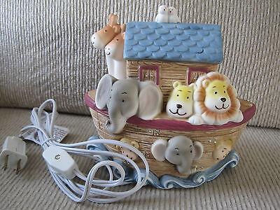 "baby Noah's Ark Nightlight-resin-6.25""H-incl. light & electric cord & switch-NIB"