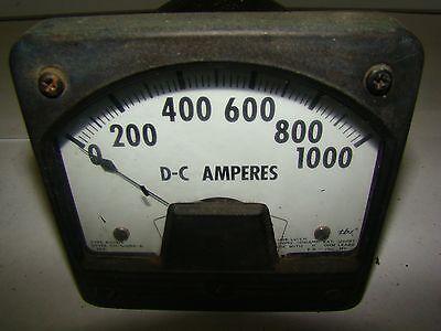 1pc. Westinghouse Ch-51590-b D-c Amperes Meter Gauge Type Kx-221 Used