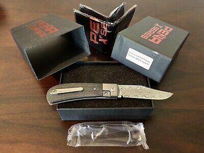 Pena X-Series Lanny's Clip Front Flipper Black Micarta Gysinge Damascus BNIB NEW
