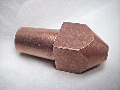 Nos Spot Welding Tip 78 Square Solid Copper Morse Taper