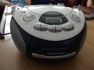 Majestic portable stereo CD/MP3 player radio cassette recorder