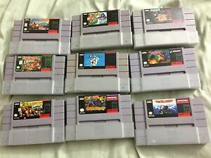 Assorted Snes games for trade/sale