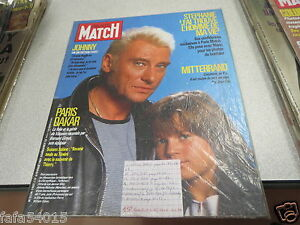 revue avec couverture johnny hallyday paris match n 1967 6 fevrier 1987. Black Bedroom Furniture Sets. Home Design Ideas