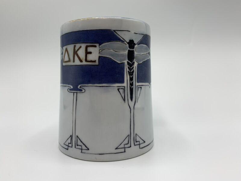Delta Kappa Epsilon Fraternity Porcelain Mug Art Deco Dragonfly Imperial Austria
