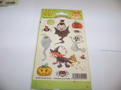 r Sticker Vielseidig Herbst Halloween Geister Vampier Hexe (Glitter Hexe)