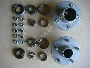 GALVANISED-5-STUD-FORD-HUBS-WITH-HOLDEN-or-LM-BEARING-KITS-TRAILER-HUBS