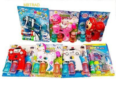 Led Bubble Gun Wholesale (12 PACK LED Bubble Gun Flashing Light Up Bubbles Blaster Squirt Blower)