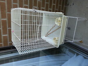 white bird cage good size
