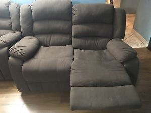Two seaters fabric recliner for sale