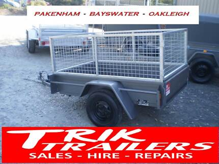 6x4 light duty box trailer and cage 500kg gvm Bayswater Knox Area Preview