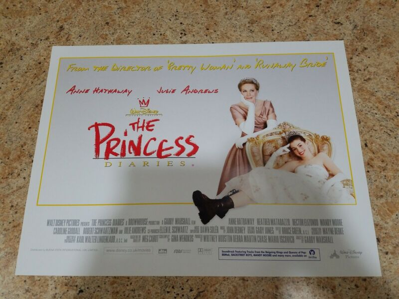"The Princess Diaries movie poster - Julie Andrews, Anne Hathaway - 12"" x 16"""