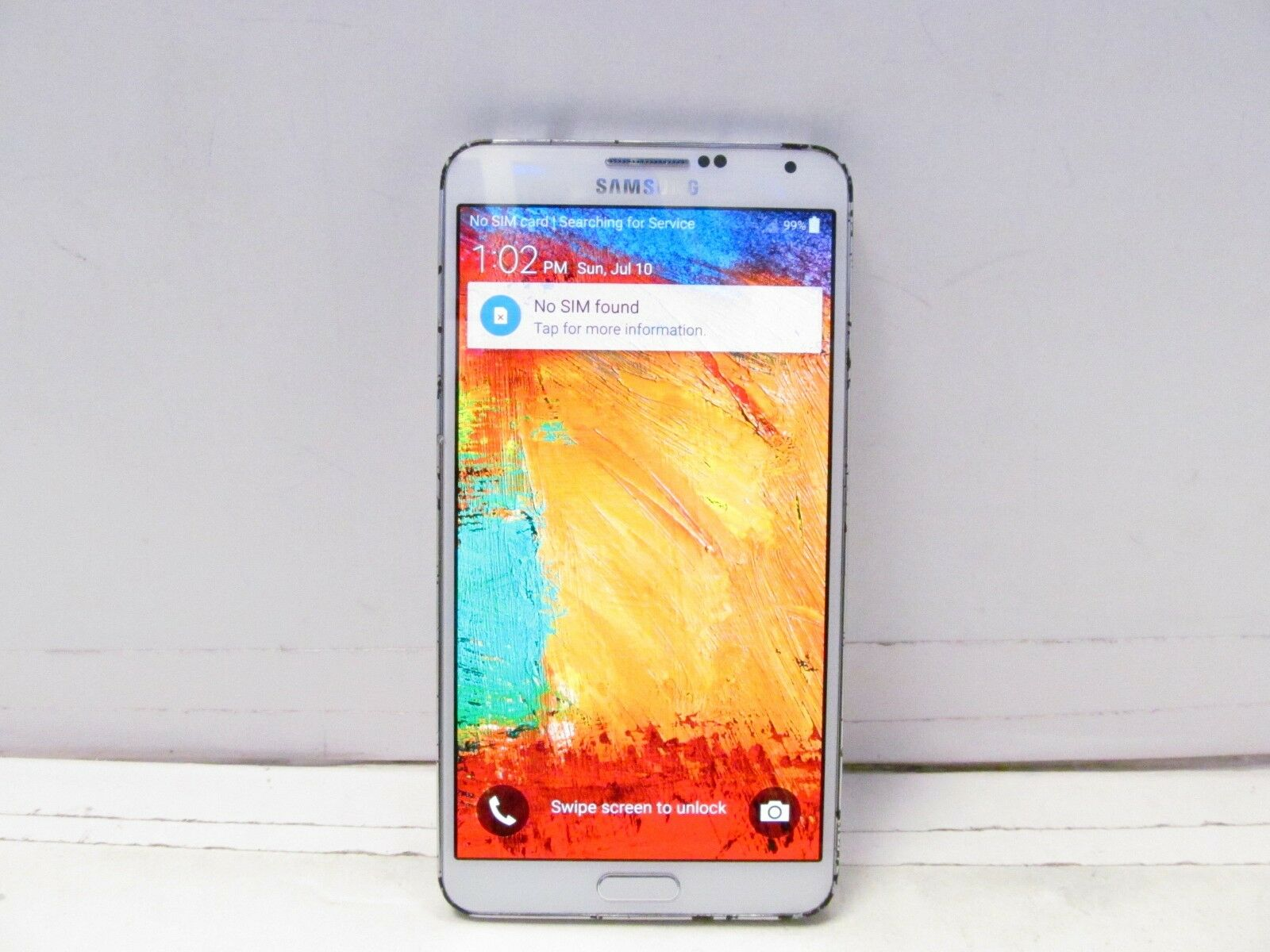 Samsung Galaxy Note 3 SM-N900V - 32GB - White (Verizon)  ***BAD ESN***  READ