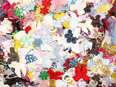 ASSORTMENT OF 100 MIXED MINI FABRIC SHAPES - Assorted Shapes & Colours