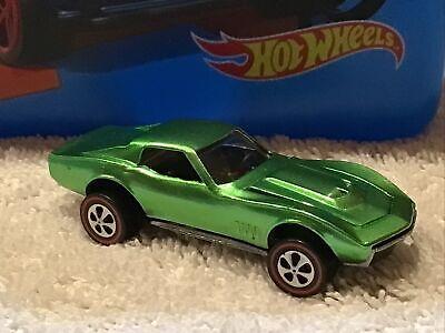 Hot Wheels Redlines 1968 Custom Corvette USA Light Apple Green