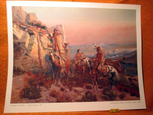1902 Indian Standing On Horse War Paint Charles Russell Museum Quality PRINT