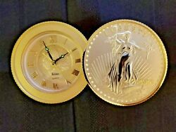 50's Vintage Lady Liberty Bulova Table Quartz Clock, Ex. Condition Collectible