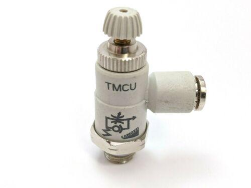 "Camozzi TMCU Flow Control 1/4"" Tube OD, M10 Thread"