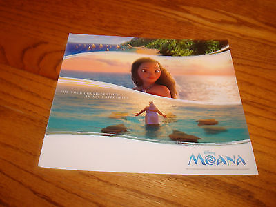 MOANA 2016 Oscar ad for Best Visual Effects, Best Animated Feature, Disney