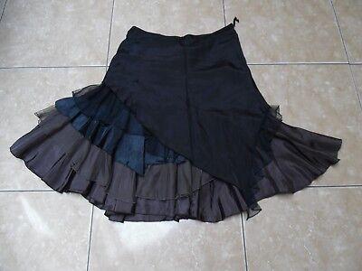 CHINE jolie jupe à volants 50% soie taille 3 = 42 cm