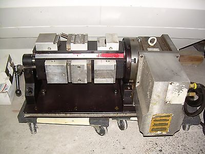 Cnc Rotary Table With Chick Vise Tombstone Yuasa Sudx 8 4th Axis Sub System