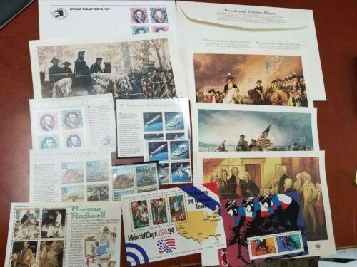 US souvenir sheets plus extras, face $17.60,  MINT