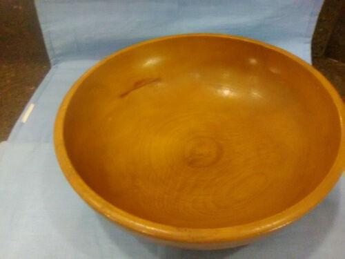 Vintage Large Wooden Carved Bowl
