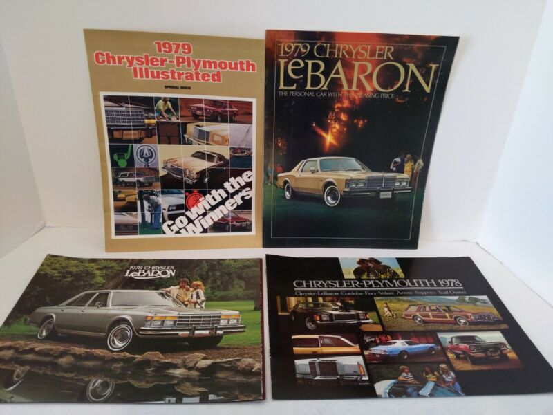 1978-1979 Chrysler Brochures Flyers LeBaron Fury Volare Sapporo Trail Duster