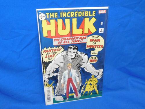 INCREDIBLE HULK #1 FACSIMILE EDITION / REPRINTS 1960S / VF/NM UNREAD