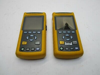 Qty 2 Fluke 43b 43 Power Quality Analyzer Meter - Parts And Repair T9-d11