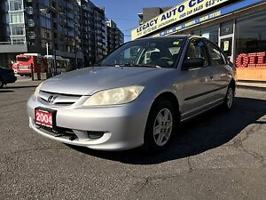 2004 Honda Civic DX-G 04 Sedan 5 Speed Manual Silver 04 safetied