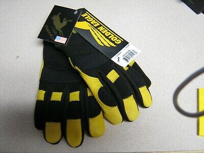 Golden Eagle mechanics style deerskin gloves leather work riding 2150 Lot of 2pr Golden Eagle Mechanics Gloves