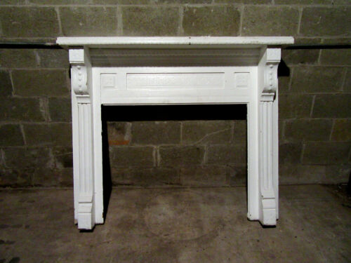 ~ ANTIQUE CARVED OAK FIREPLACE MANTEL ~ 57 X 48 ~ ARCHITECTURAL SALVAGE