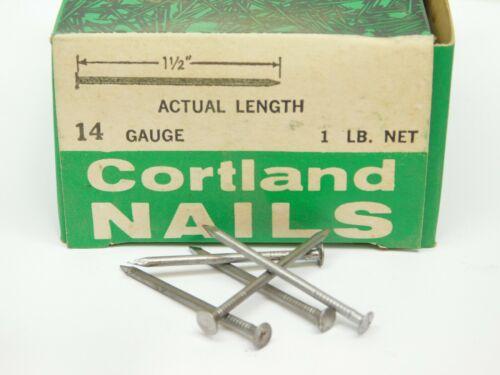 "400+! WIRE NAILS BOX #14 GA x 1-1/2"" LONG PLAIN STEEL 13/64"" HEAD DIAMETER ES"