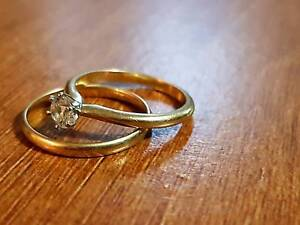 Bridal Set- 1/4 carat Diamond! 18ct Gold Rings Watson North Canberra Preview