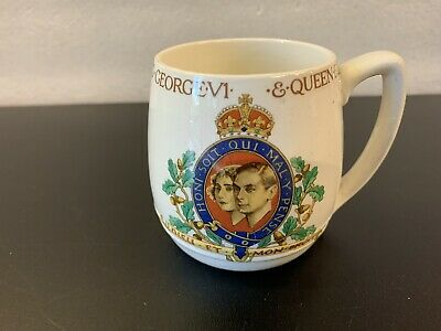 King george V1 And Queen Elizabeth May 1937 Coronation mug  Beautiful Condition