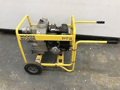 Used Used 3trash Pump Wacker Neuson Pt3 Trash Dewatering Centrifugal Water Pump