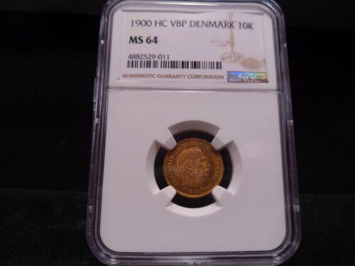 1900 HC VBP MS64 Denmark 10 Kronor, Christian IX, NGC Certified - Fantastic Coin