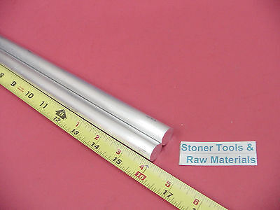 2 Pieces 58 Aluminum 6061 Round Rod 16 Long T6511 .625 Solid Lathe Bar Stock