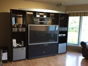 "57"" Projection TV and Wall Unit"