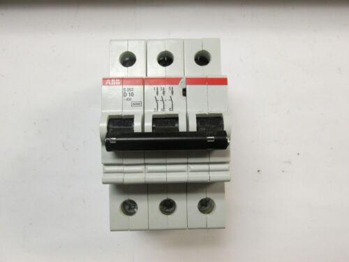 * ABB Circuit Breaker Cat# S 263-D10 ... 10A ... 277/480 .. 3P ..CHIPPED ..UA-66
