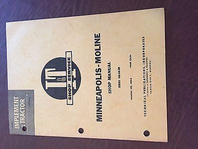 It Minneapolis Moline Avery Shop Tractor Shop Manual G B Ub Zb