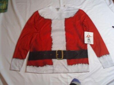 Men's FAUX REAL L SANTA Claus Clause Suit Costume Christmas Shirt - Real Santa Claus Kostüm