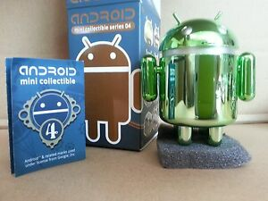 NEW-GOOGLE-ANDREW-BELL-ANDROID-MINI-COLLECTIBLE-Series-4-CHROME-GREEN-Chase