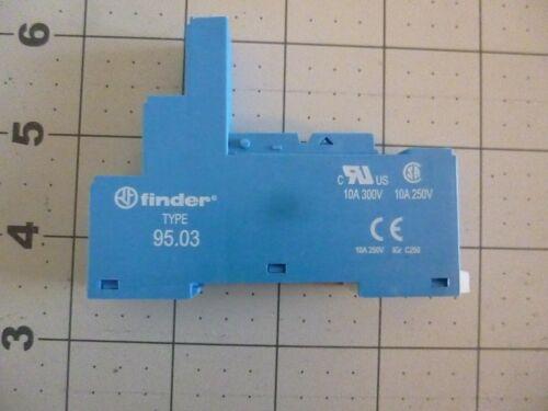 FINDER 95.03 RELAY SOCKET, 250V, 10A, DIN RAIL