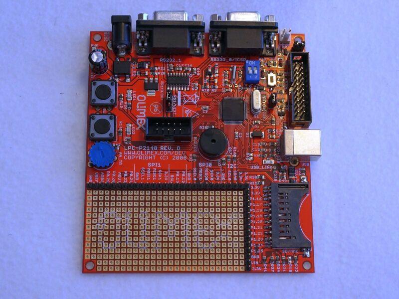 NXP LPC2148 (ARM) Prototype Board, USB, Dual RS232