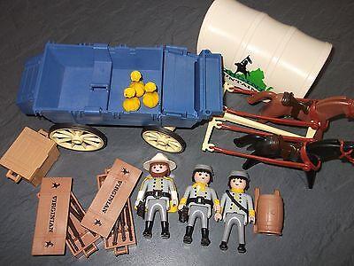 Playmobil ® Südstaatler Soldaten Kutsche Western Figuren Zubehör Hüte Pistolen