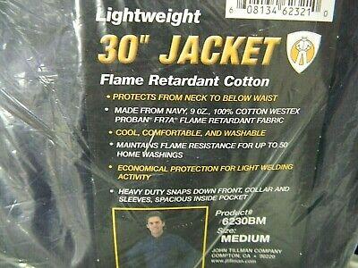 Tillman 6230bm Lightweight 30 Blue Jacket Flame Retardant Cotton - Size Medium